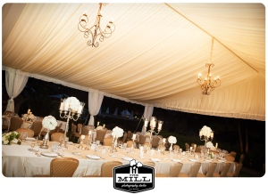 troberman tent and head table